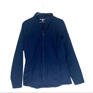 Port Authority Navy blue lined cinched jacket